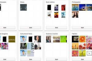 Screenshot of Pinterest boards