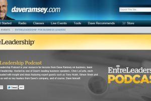 Screenshot of the Entreleadership website