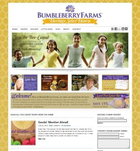 Screenshot of the Bumbleberry Farms website