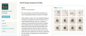 Screenshot of The R House Etsy storefront