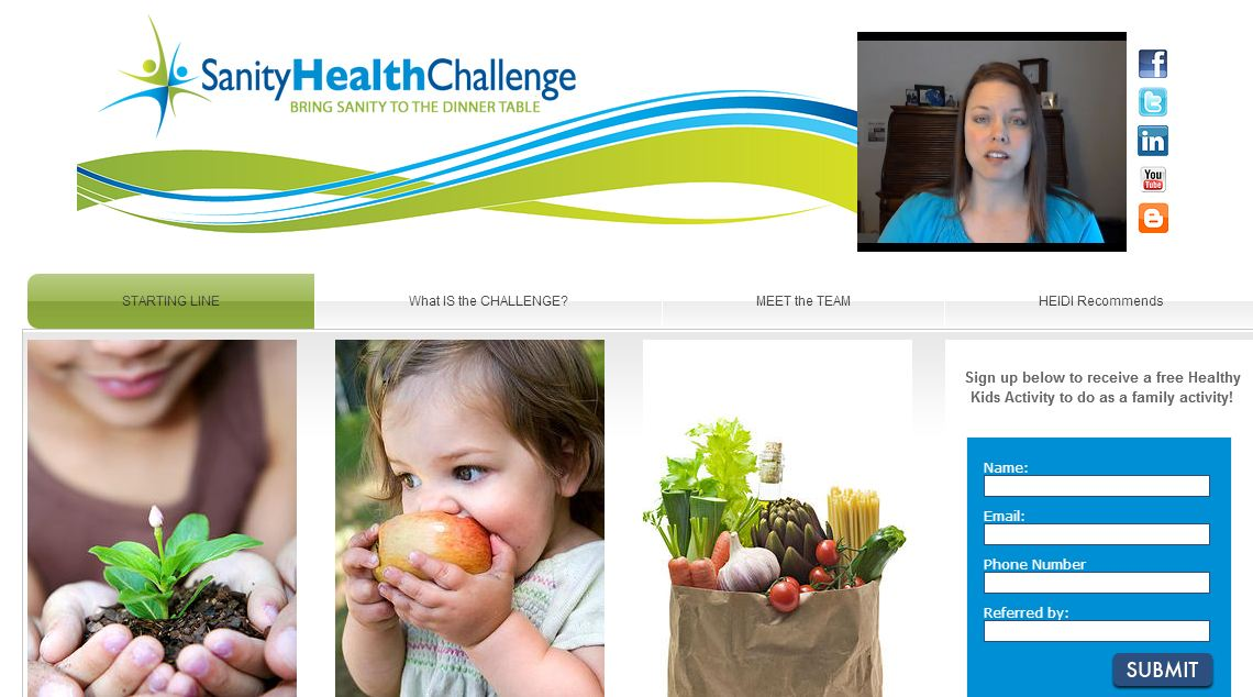 Screenshot of the Sanity Health Challenge site