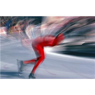 photo of a speed skater