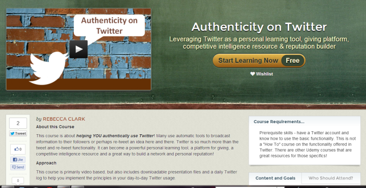 Screenshot of the Nudge Village course about Twitter