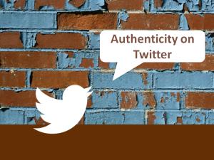 Authenticity on Twitter logo