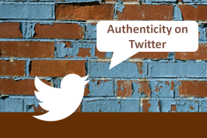 Authenticity on Twitter logo